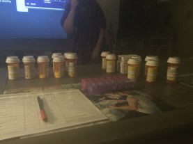 44 Meds laid out